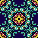 Colorful  Festive Abstract Floral Vector Pattern