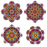 round ornaments, patterns and elements.Mandala background