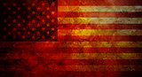 USA Flag Grunge Texture Background