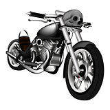 chopper motorbike with a skull
