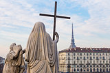Turin, Italy - January 2016: Religion Statue