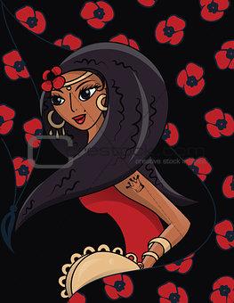beautiful Gypsy dancer