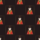 seamless pattern with boys of Japan