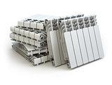 Heating radiators isolated on white background.