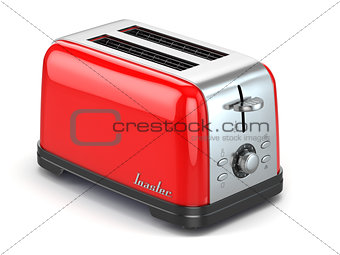 Toaster. Kitchen appliance, equipment isolated on white.