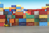 Delivery or warehouse  background concept. Cargo shipping contai