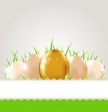 Green grass and eggs