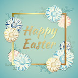 Easter background with flowers