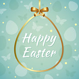 Easter background with greeting inscription
