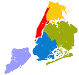 Five boroughs of NYC.