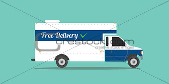 free delivery truck shipping transport ecommerce goods