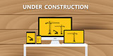 website construction construct under development concept