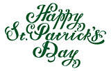 Happy St. Patricks Day. Lettering text