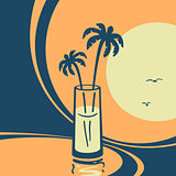 Vector symbol of exotic cocktails