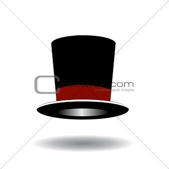 Black Top Hat vector illustration