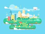 Green city flat