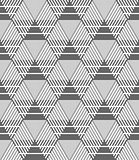 Seamless hexagons, diamonds and triangles pattern.