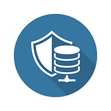 Secure Hosting Icon. Flat Design.