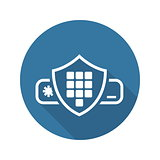 Security Code Icon. Flat Design.