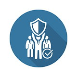 Private Security Icon. Flat Design.