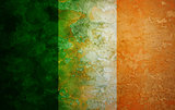 Ireland Flag Grunge Texture Illustration