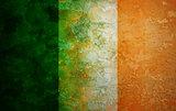 Ireland Flag Grunge Texture Illustration