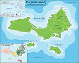 Map of Margarita Island