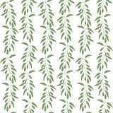 Seamless pattern branches and leaves of Goji berries . Floral background. Green silhouette