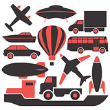 Transport icons, vector.