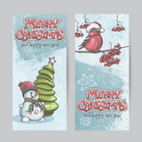 Set of vertical banners for Christmas and the new year