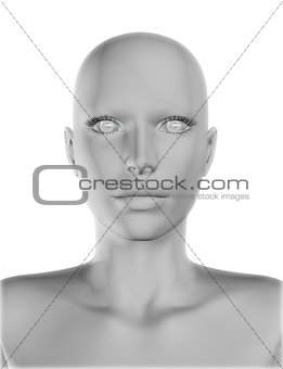 3D female face