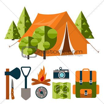 Camping vector illustration