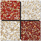 Set of Golden Hearts seamless backgrounds