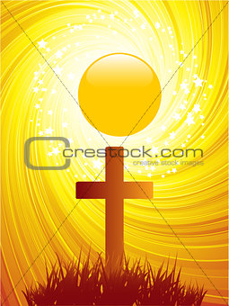 Abstract Easter Cross background