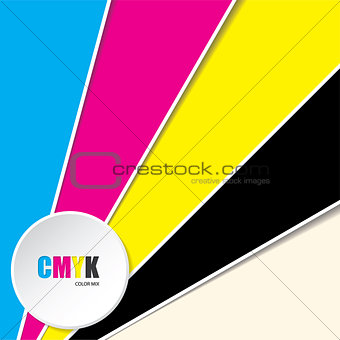 Abstract background with CMYK text
