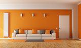 Modern orange living room