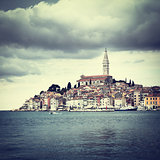 View of Medieval Town Rovinj in Croatia.