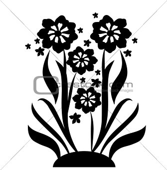 black flowers 2