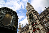 Town Hall (Rathaus) in Marienplatz, Munich, Germany
