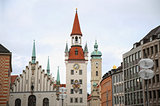 Old Town Hall (Altes Rathaus) building at Marienplatz in Munich,