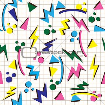80s background vector