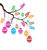 Vector Easter Branch