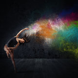 Dance with colored pigments