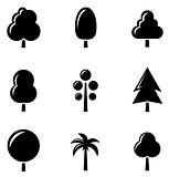 black tree set