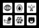 honey concept icons set