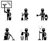 set cleaner worker