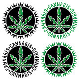 Cannabis marijuana design stamps