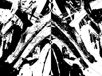 abstract grungy scratches texture background vector illustration in black and white