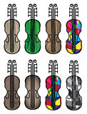 violin musical instrument vector illustration