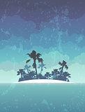 island with palms